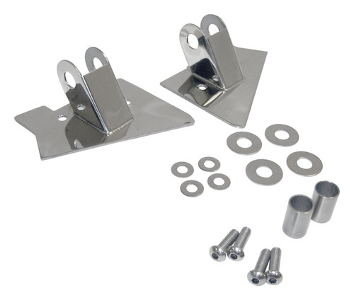Stainless Steel Mirror Relocation Brackets for 1997-2002 Jeep TJ Wrangler