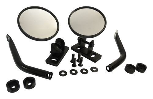 Quick Release Mirror Set w/ Relocation Brackets for Jeep JK, TJ, YJ, CJ-7, CJ-8