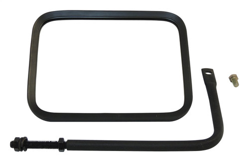 Left or Right Black Textured Trail Mirror for 76-20 Jeep CJs, YJ, TJ, JK, JL, JT