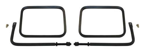 Left & Right Black Trail Mirror Set for 76-20 Jeep CJs, YJ, TJ, JK, JL, and JT