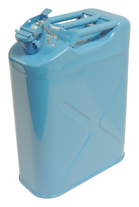 Blue 5-Gallon Steel Water Can w/ Food-Grade Polyurethane Lining; Universal Fit