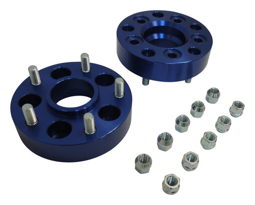 """1.5"""" Thick Blue Anodized Wheel Adapter Set; Adapts 5 on 4.5"""" to 5 on 5"""""""