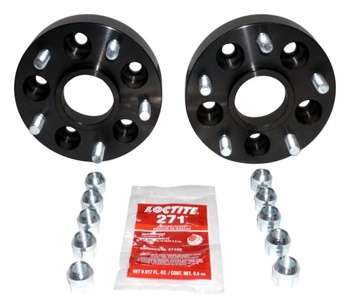 """1.5"""" Thick Black Anodized Wheel Adapter Set; Adapts 5 on 4.5"""" to 5 on 5"""""""