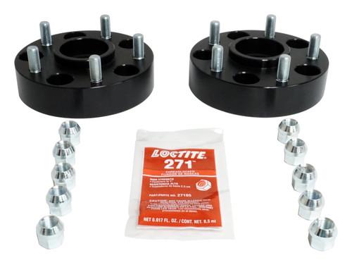"1.5"" Wide Black Anodized Wheel Spacer Set for 99-19 Jeep JK, WJ, WK, XK"