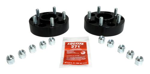 """1.5"""" Wide Black Wheel Spacer Set for Jeep YJ, TJ, KJ, KK, XJ, MJ, ZJ, ZG Models"""