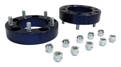 """1.5"""" Wide Blue Anodized Wheel Spacer Set for 76-86 Jeep CJ-5, CJ-7, CJ-8"""