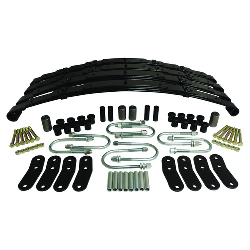 "Front & Rear Leaf Spring Kit for 1987-1995 YJ Wrangler; Provides 1-1.5"" Lift"