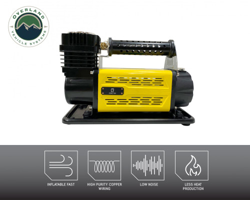 Portaable Air Compressor System 5.6 CFM With Storage Bag, Hose and Attachments Single Motor UP Down Air