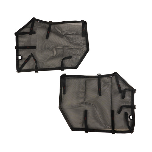 Fortis Tube Door Covers, Front Set, Black; 07-18 Jeep Wrangler JK