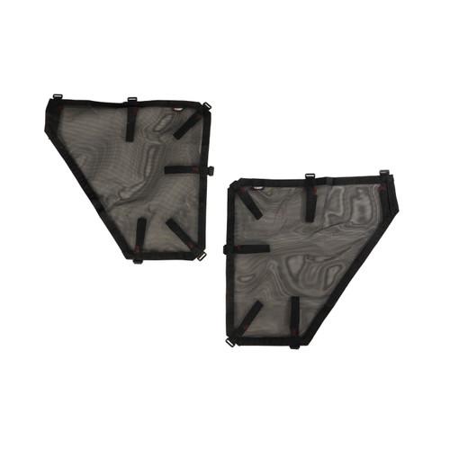 Fortis Tube Door Covers, Rear Set, Black; 07-18 Jeep Wrangler JKU