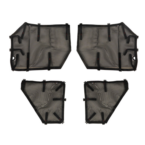 Fortis Tube Door Covers, Full Set, Black; 07-18 Jeep Wrangler JKU
