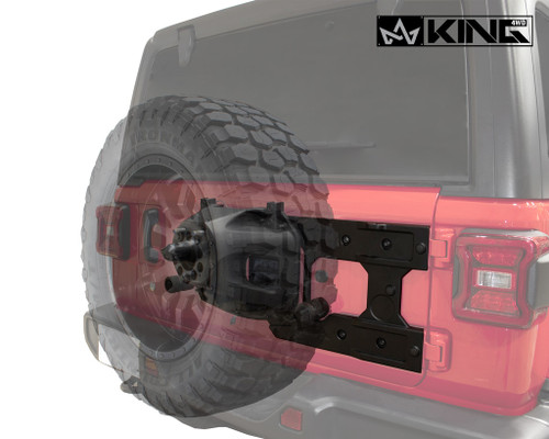 Jeep JL Tire Carrier For 18-Pres Wrangler JL 2/4 Door Baumer Heavy Duty Tire Carrier King 4WD