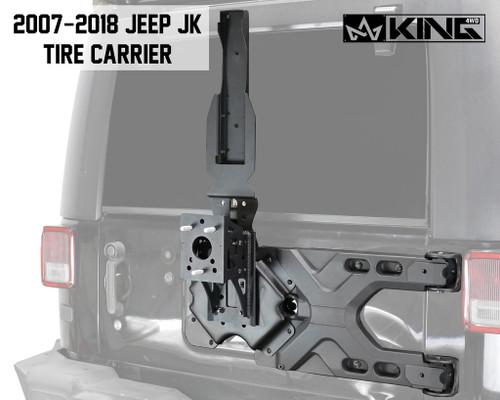 Jeep JK Tire Carrier For 07-18 Wrangler JK 2/4 Door Baumer Heavy Duty Tire Carrier King 4WD