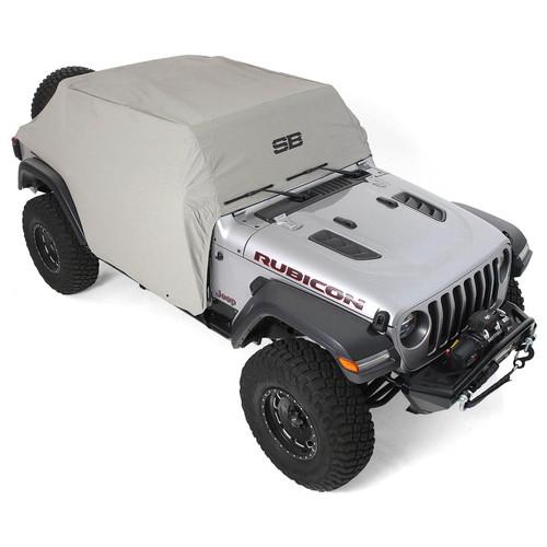 Jeep JLU Cab Cover w/Door Flaps Water-Resistant Gray 2018-Present Wrangler JL 4-Door Each Smittybilt