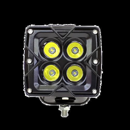 3 inch 20w Flood Work Light with RGB Accent - Single Quake LED