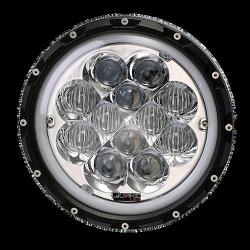 Jeep JK/CJ/TJ 7 Inch Spider Eye Headlights w/White DRL Halo and RGB Accent Backlighting Quake LED