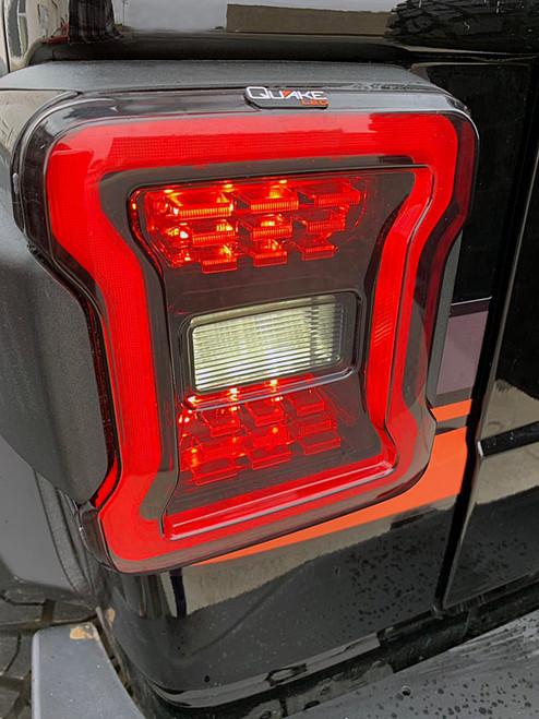 Jeep Wrangler JL Blackout LED Replacement Tail Lights  Quake LED