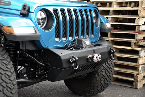 Jeep JL and JT Summit Air Dam Skid Plate with Fog Lights Hyline Offroad