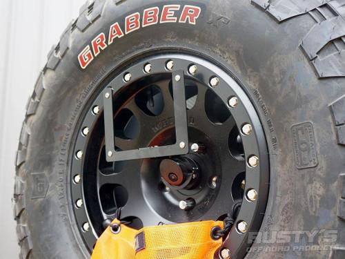 Rusty's License Plate Relocation Bracket for JBJL6767 Tire Carrier - JL Wrangler