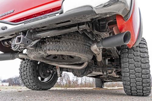 Dual Cat-Back Exhaust System w/ Black Tips (99-06 GM 1500 | Ext Cab / Short Bed | 4.8L / 5.3L)