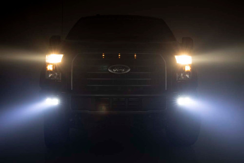 Ford LED Fog Light Kit | Black Series w/ Flood Beam (15-19 F-150)