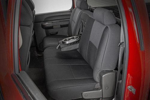 GM Neoprene Front and Rear Seat Covers| Black (07-13 1500 | 11-13 2500)