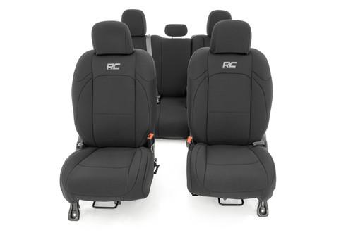 Jeep Neoprene Seat Cover Set   Black [2020 Gladiator JT]