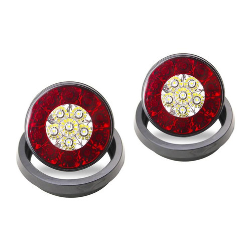 4'' INCH ROUND LED MULTI-PURPOSE TAIL LIGHTS W/ RUBBER GROMMETS