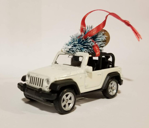 Jeep Wrangler JK 2 door Ornament with Tree