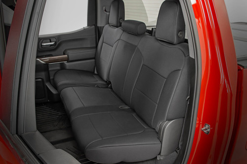 GM Neoprene Seat Covers Front and Rear   Black (19-21 1500)