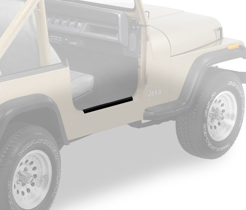Replace-A-Top For OEM - '76-83 CJ5 (Black Crush; Clear Windows; Door Skins Included)