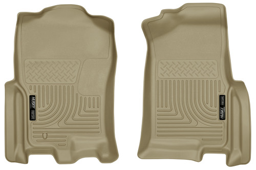 Expedition Front Floor Liners 07-10 Ford Expedition, 07-10 Lincoln Navigator Tan Husky Liners