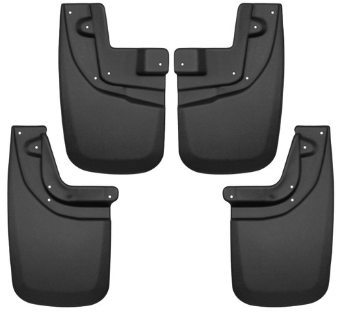 05-15 Toyota Tacoma Front and Rear Mud Guard Set Black Husky Liners