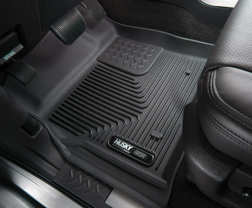 12-16 Ford F-250/F-350/F-450 Super Duty Front Floor Liners Black Husky Liners