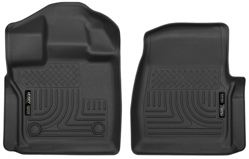 15-18 Ford F-150 Standard Cab Pickup Front Floor Liners Black Husky Liners