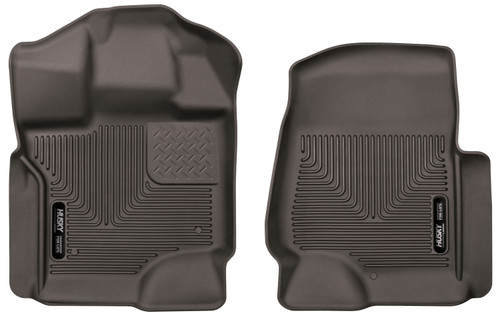 15-18 Ford F-150 Front Floor Liners Cocoa Husky Liners