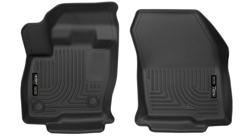 15-18 Ford Edge, 16-18 Lincoln MKX Front Floor Liners Black Husky Liners