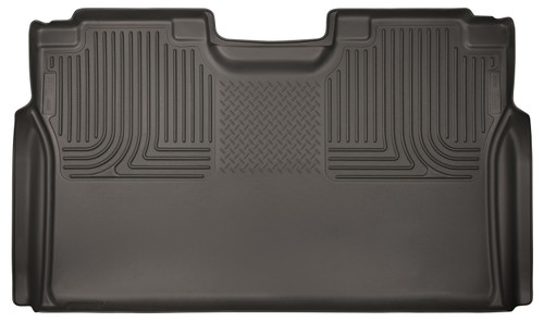 15-18 Ford F-150/F-250/F-350/F-450 Super Duty Vehicle Does Not Have Factory Storage Box 2nd Seat Floor Liner Full Coverage Cocoa Husky Liners