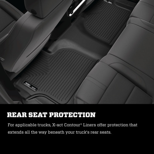 X-ACT Contour Front Floor Liners 18-20 Ford Expedition/Lincoln Navigator Black Husky Liners