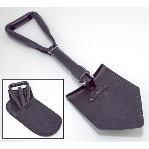Rugged Ridge, 15104.42 - Heavy Duty Tri-Fold Recovery Shovel, Multi-use for Offroad