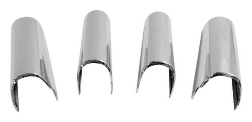 Steering Wheel Accents for Select 07-10 Jeep JK Wrangler; Plastic, Chrome Finish