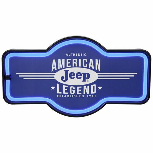 Light Up Jeep Sign Wall Decor