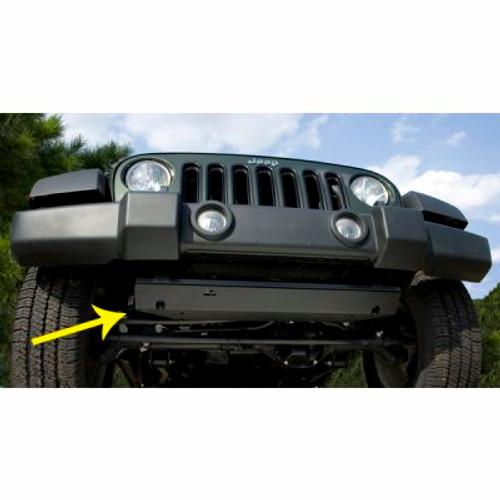 Rugged Ridge, 18003.30 - Steering Component Skid Plate, 07-18 Jeep Wrangler (JK)
