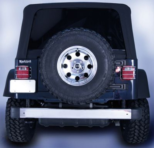 Rugged Ridge, 11107.06 - Rear Bumper, Stainless Steel, 97-06 Jeep Wrangler