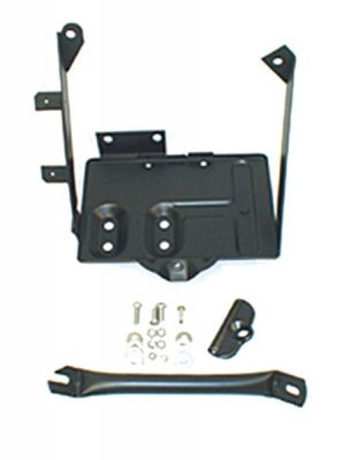 Rugged Ridge, 11214.01 - Battery Tray Kit, 76-86 Jeep CJ Models