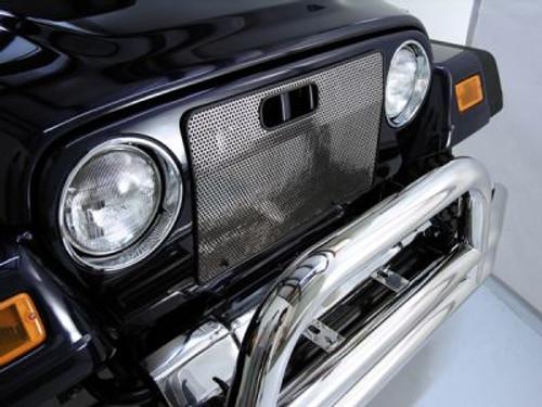 Rugged Ridge, 11106.03 - Radiator Bug Shield, Stainless Steel, 97-06 Jeep Wrangler