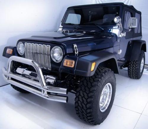 Rugged Ridge, 11401.02 - Billet Grille Inserts, Chrome, 97-06 Jeep Wrangler