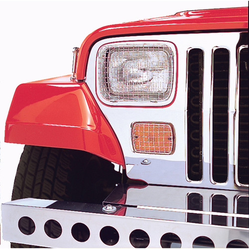 Stone Guard Kit, Stainless Steel; 87-95 Jeep Wrangler YJ