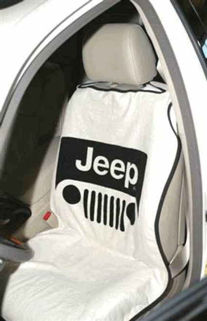 Seat Armour, IBS-JEEP-SEAT-TOWEL - Jeep Seat Towel with Jeep Grille Logo Design