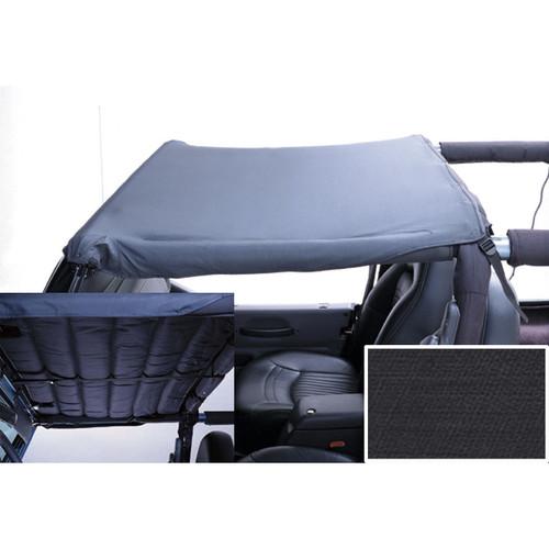 Acoustic Header Brief, Black Denim; 97-06 Jeep Wrangler TJ